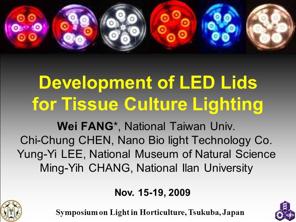 Development of LED Lids for Tissue Culture Lighting