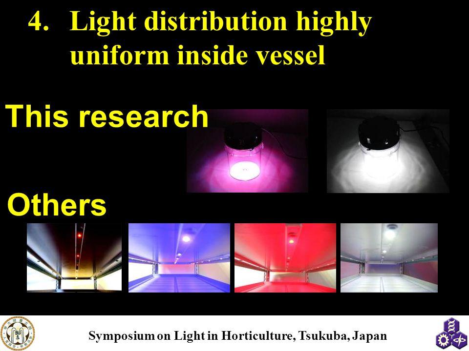 Light distribution highly uniform inside vessel