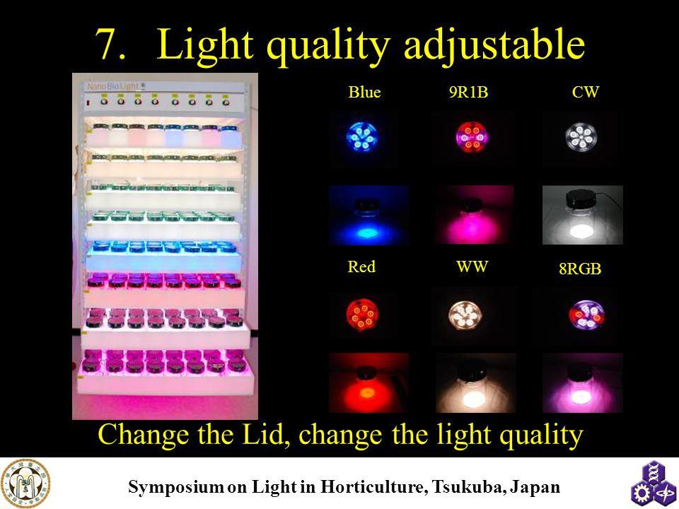 Light quality adjustable