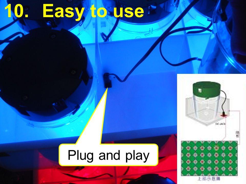 Easy to use Plug and play