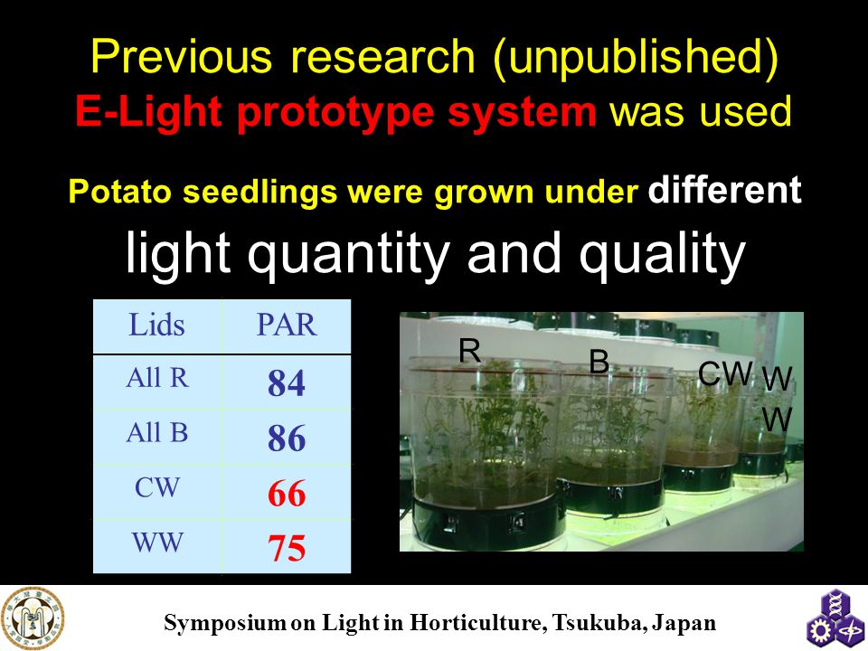 Previous research (unpublished) E-Light prototype system was used