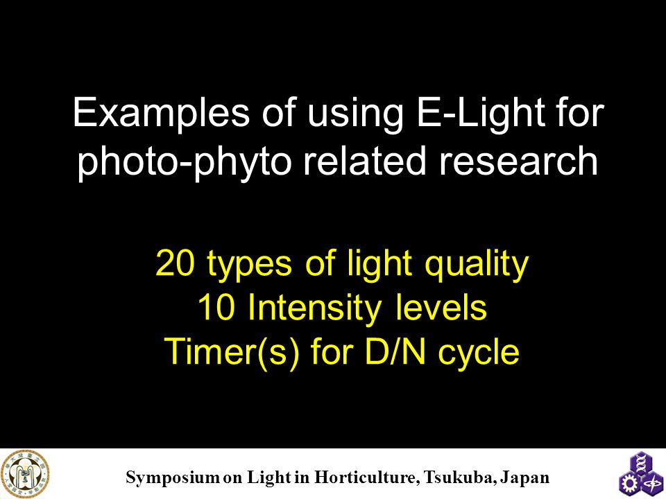 Examples of using E-Light for photo-phyto related research