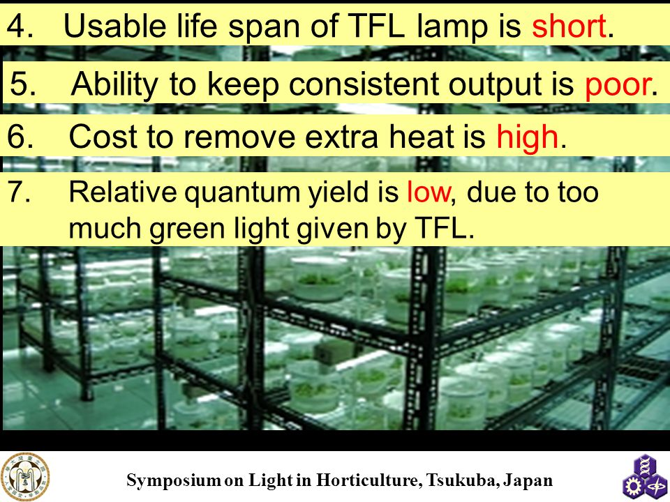 Usable life span of TFL lamp is short.