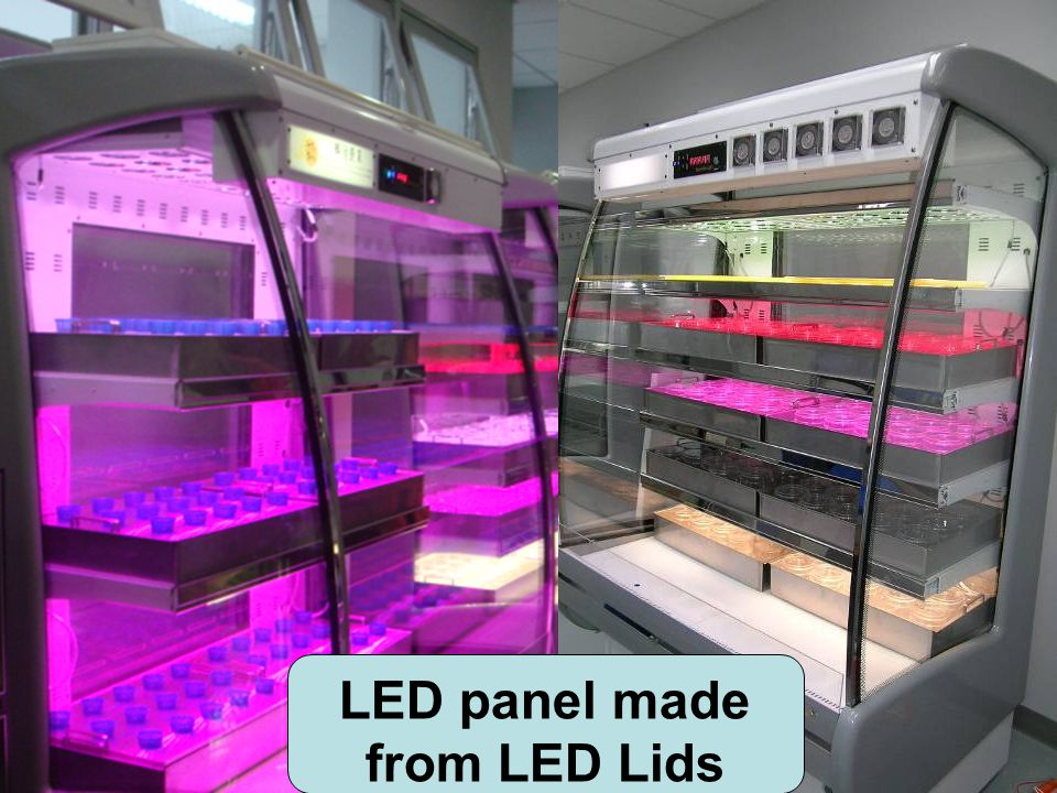 LED panel made from LED Lids
