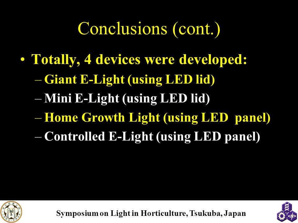 Conclusions (cont.) Totally, 4 devices were developed: