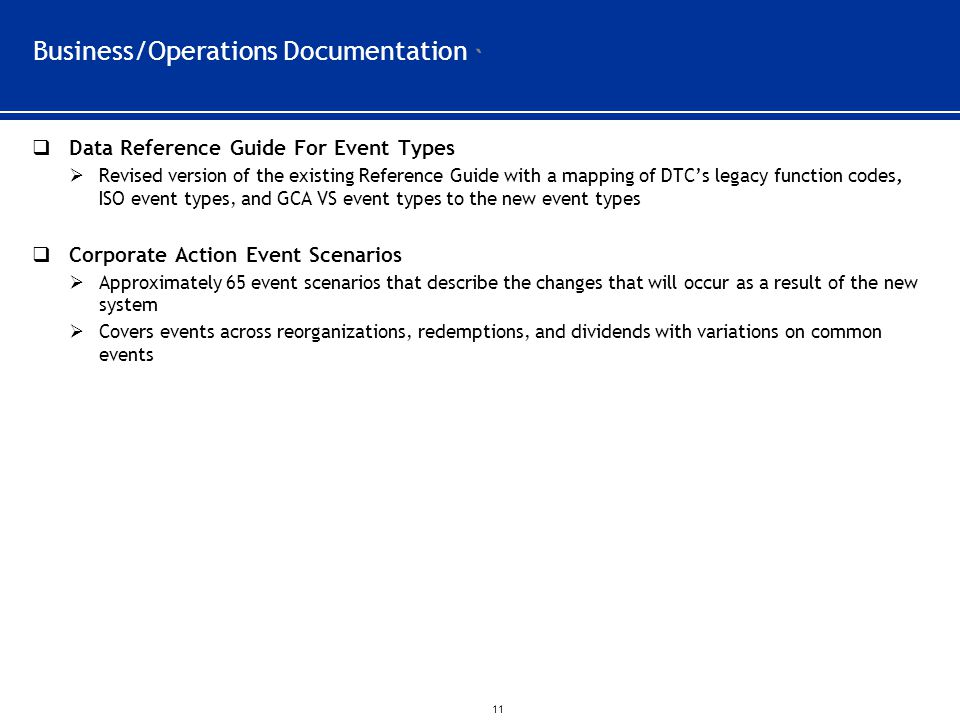 Business/Operations Documentation