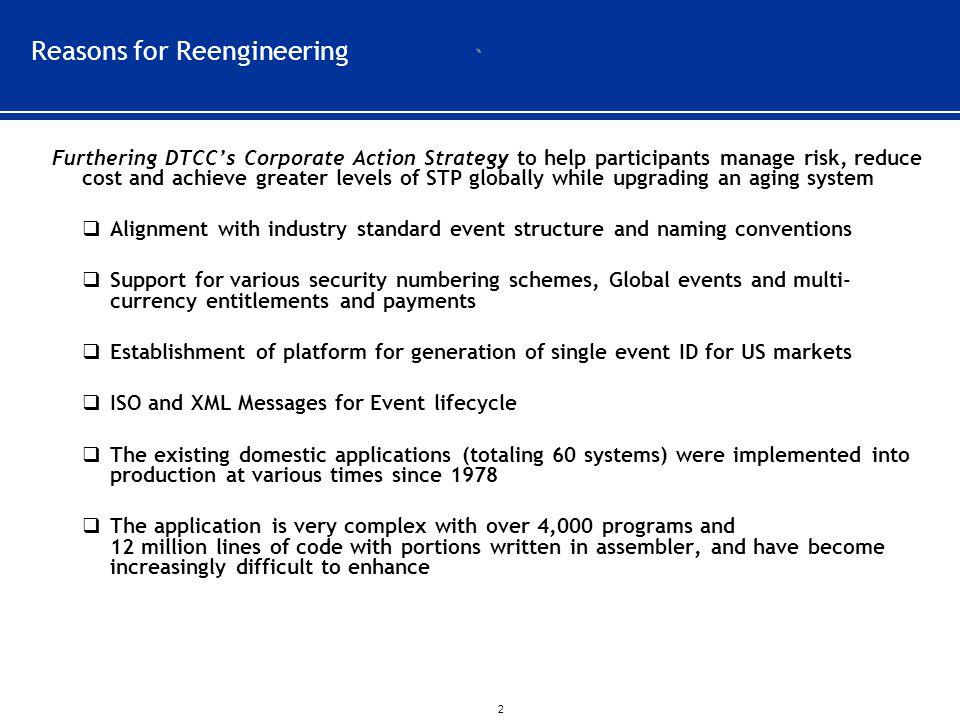Reasons for Reengineering