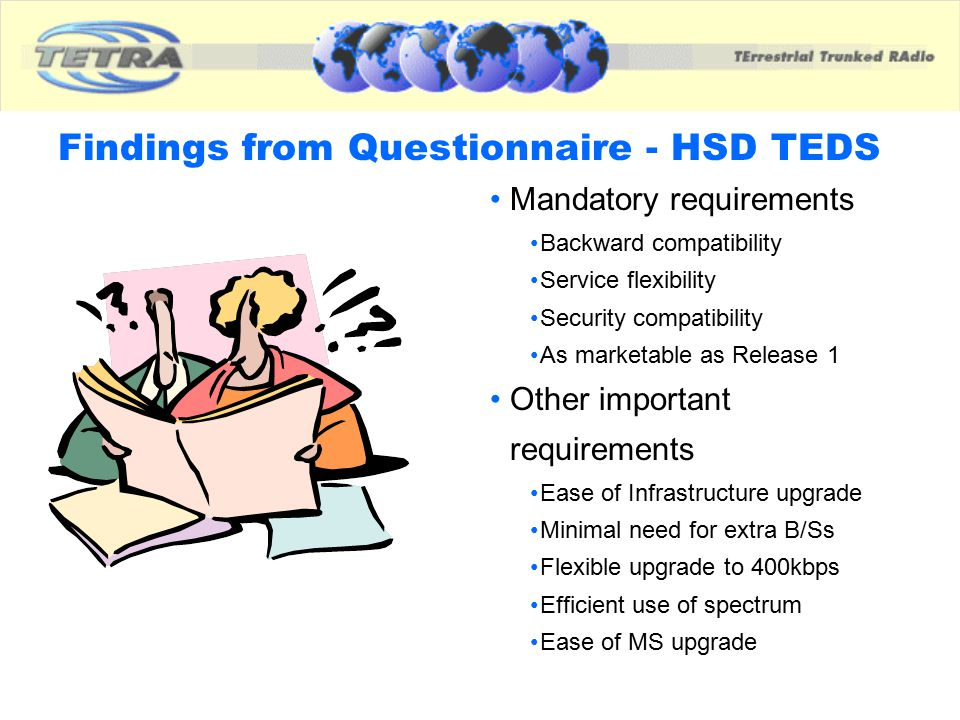 Findings from Questionnaire - HSD TEDS