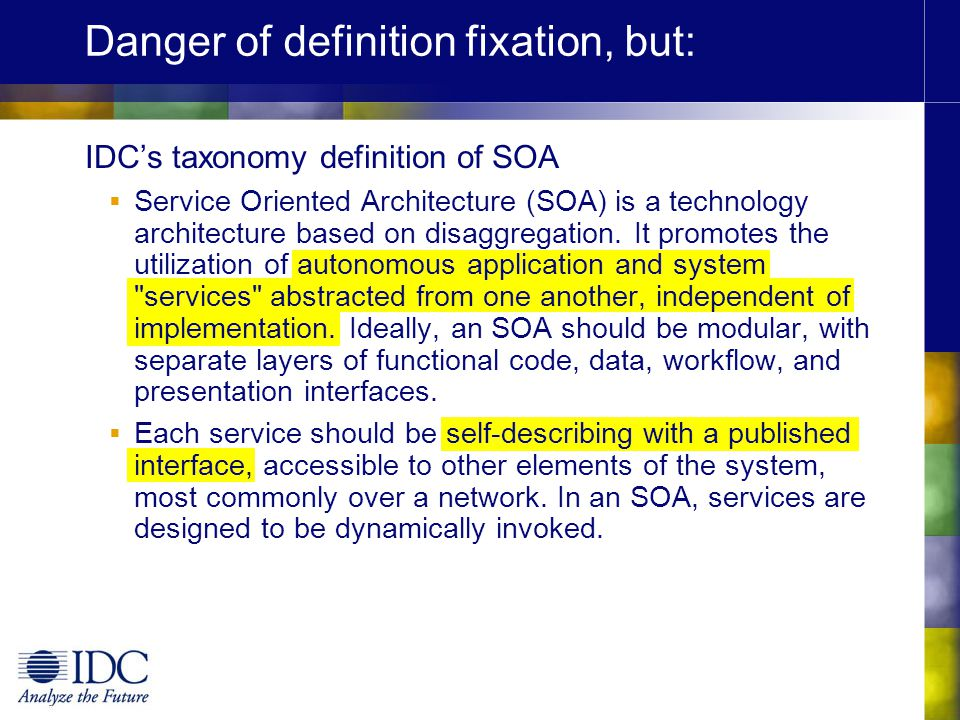 Danger of definition fixation, but: