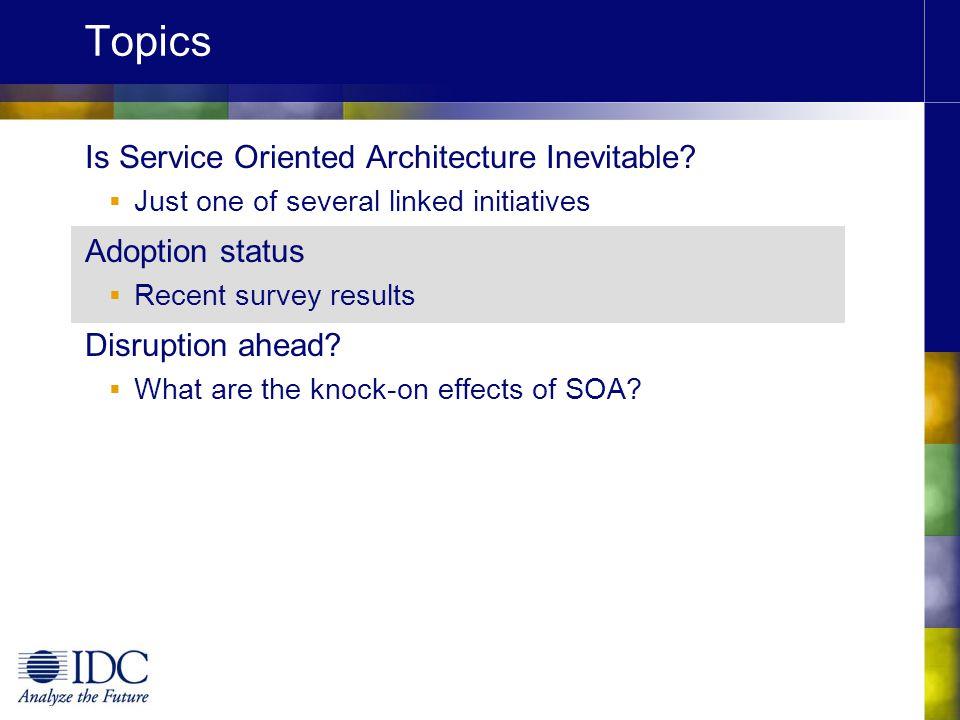 Topics Is Service Oriented Architecture Inevitable Adoption status