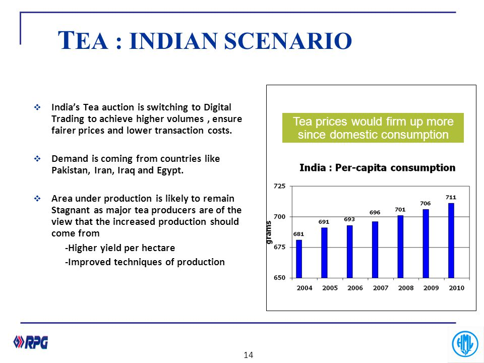 Tea prices would firm up more since domestic consumption was buoyant.