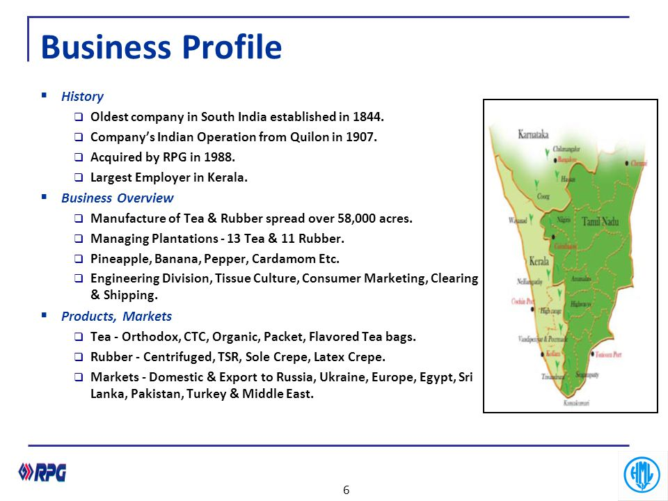 Business Profile History Business Overview Products, Markets