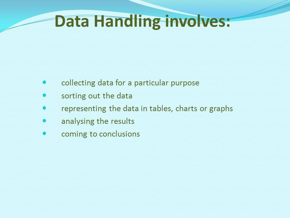 Data Handling involves: