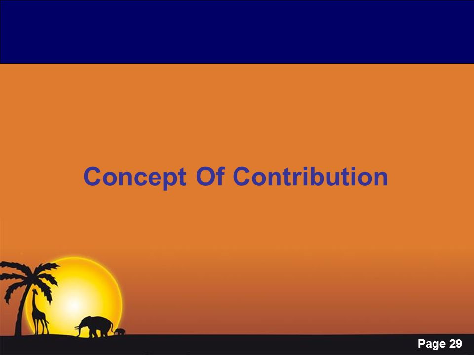 Concept Of Contribution