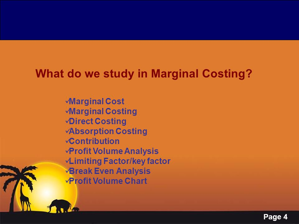 What do we study in Marginal Costing