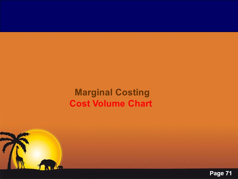 Marginal Costing Cost Volume Chart