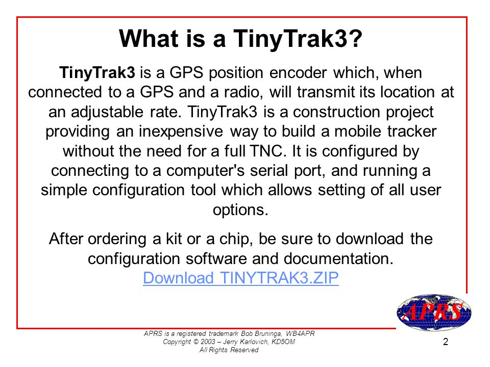 What is a TinyTrak3
