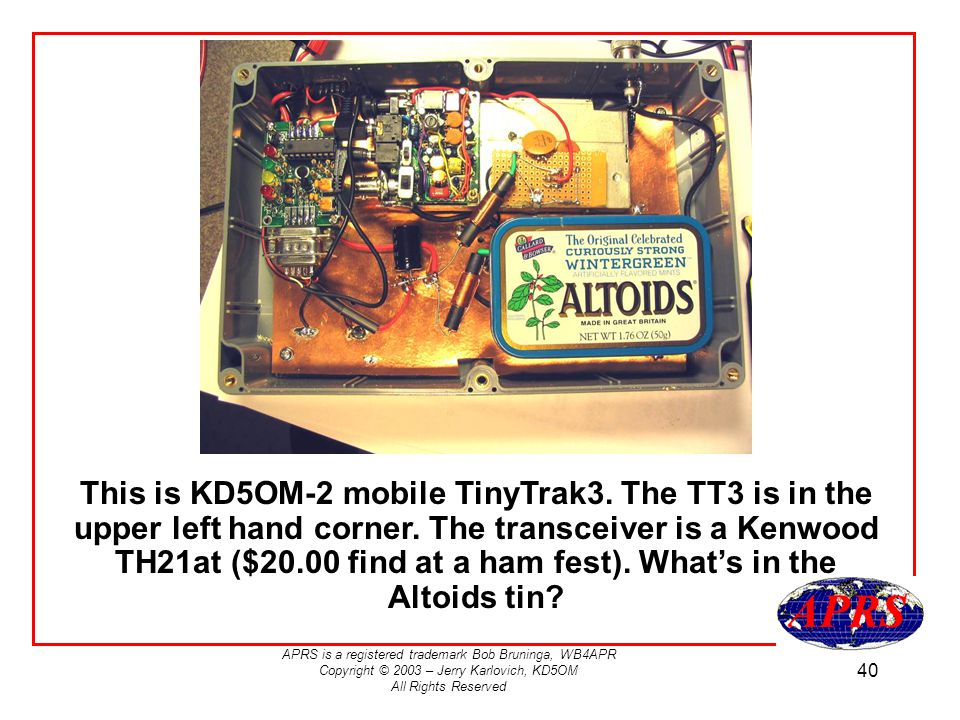 This is KD5OM-2 mobile TinyTrak3