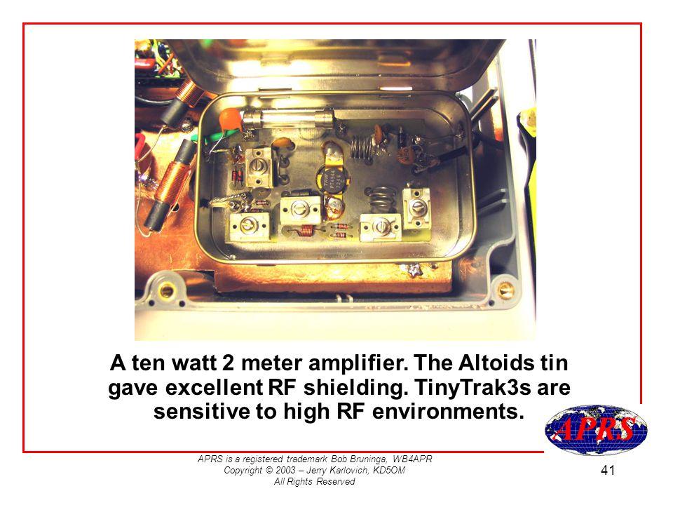 A ten watt 2 meter amplifier