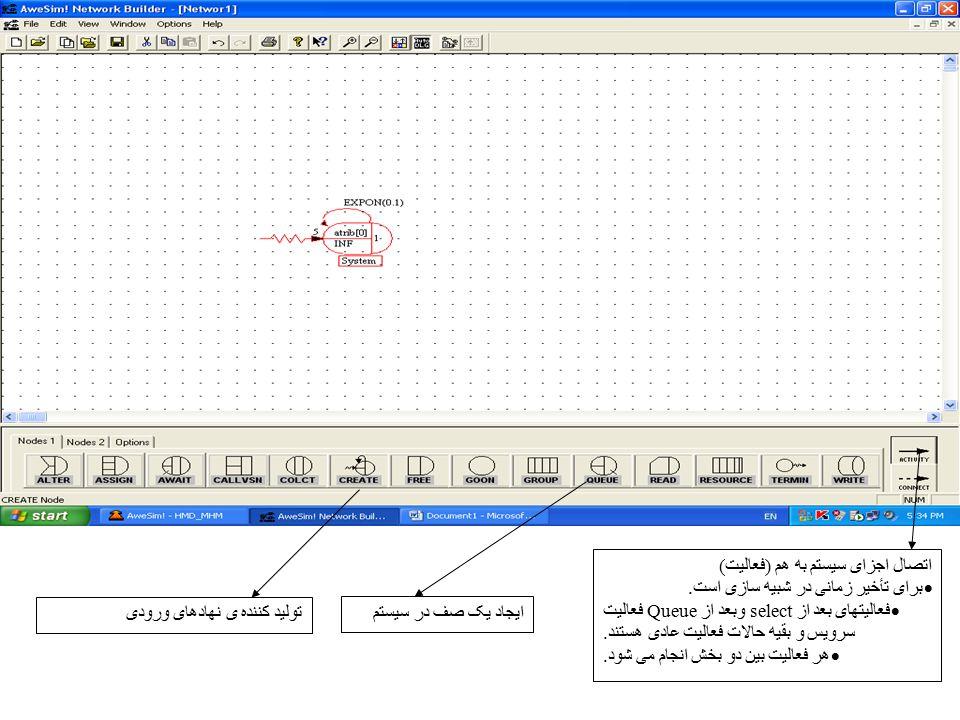اتصال اجزای سیستم به هم (فعالیت)