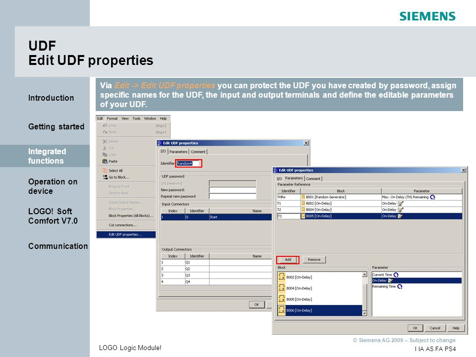UDF Edit UDF properties
