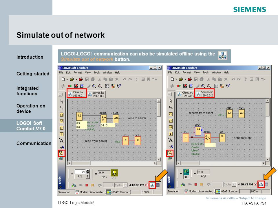 Simulate out of network