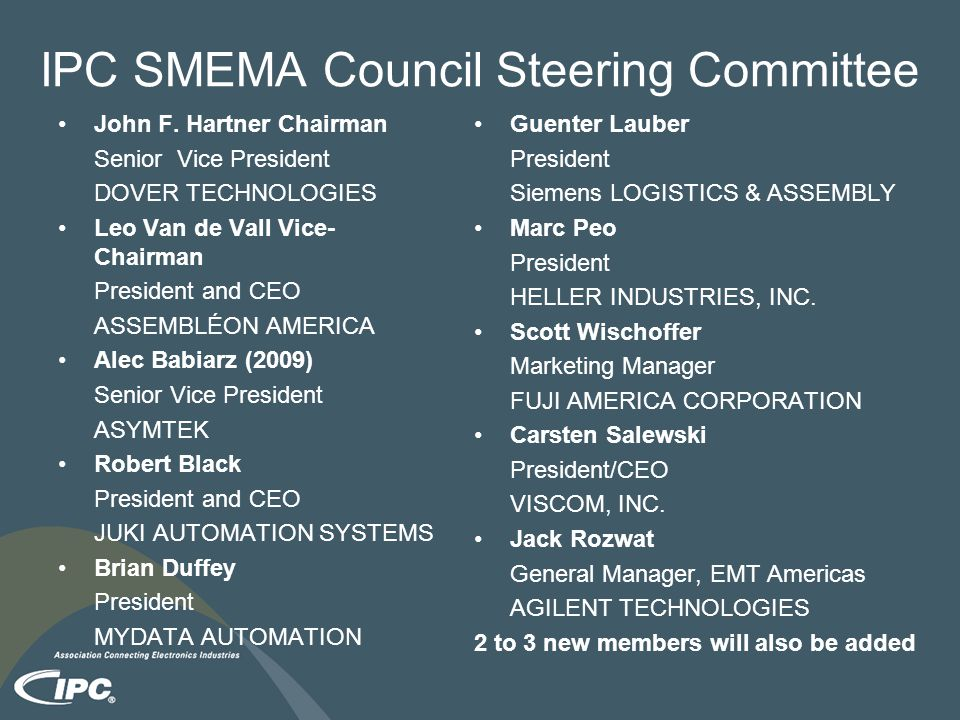 IPC SMEMA Council Steering Committee