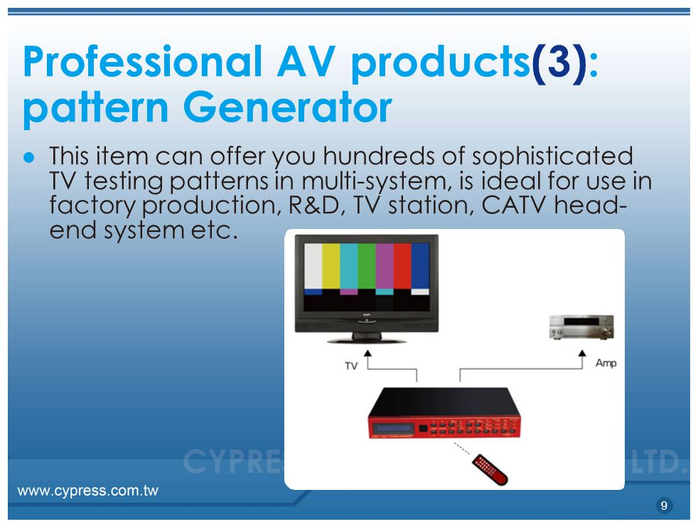 Professional AV products(3): pattern Generator