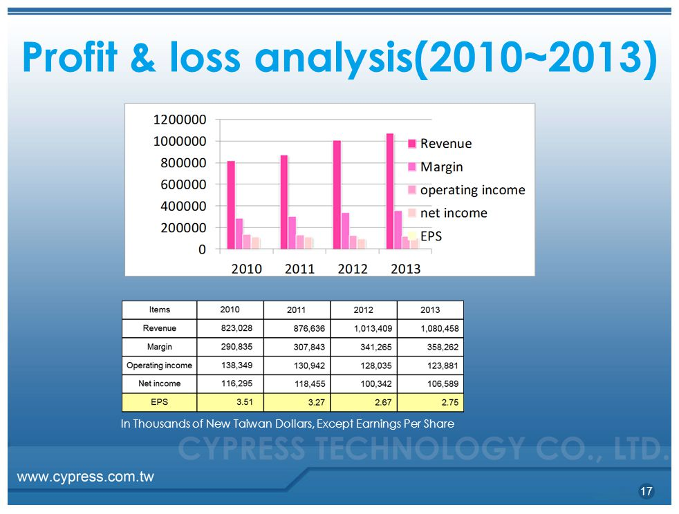 Profit & loss analysis(2010~2013)
