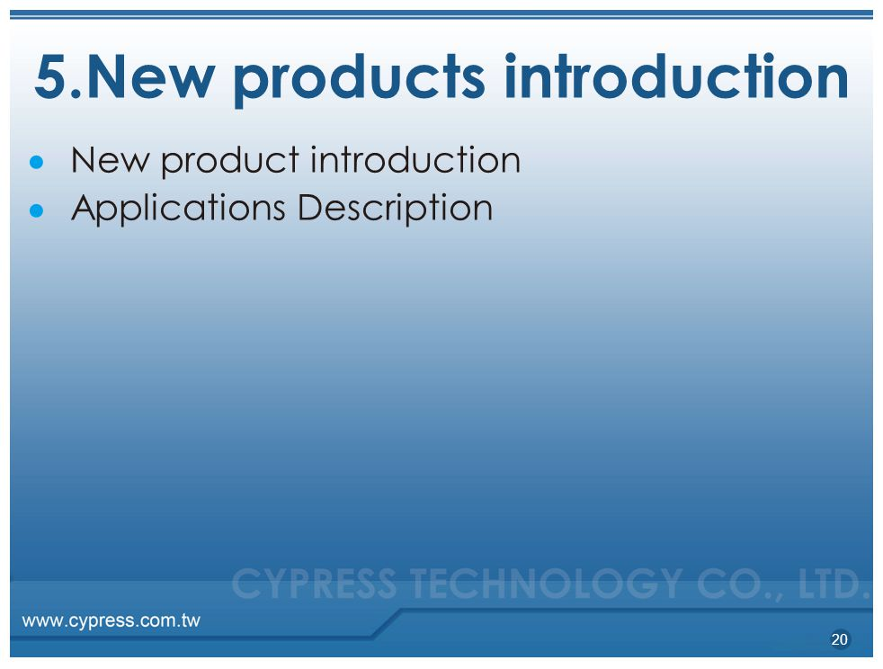 5.New products introduction