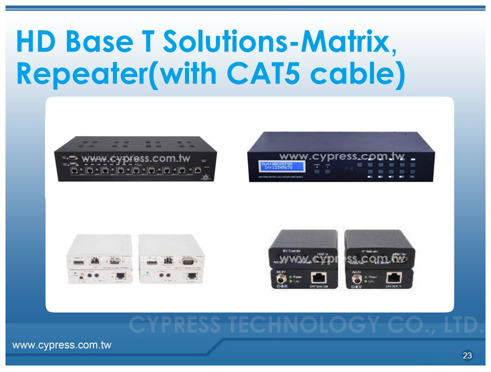 HD Base T Solutions-Matrix, Repeater(with CAT5 cable)