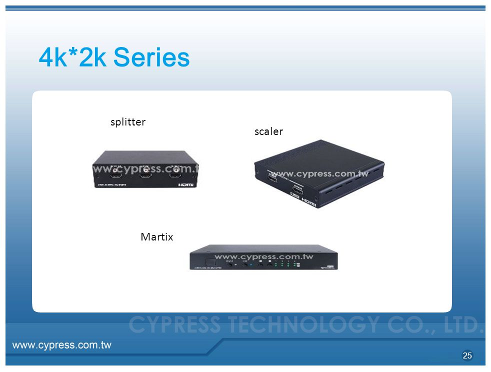 4k*2k Series splitter scaler Martix