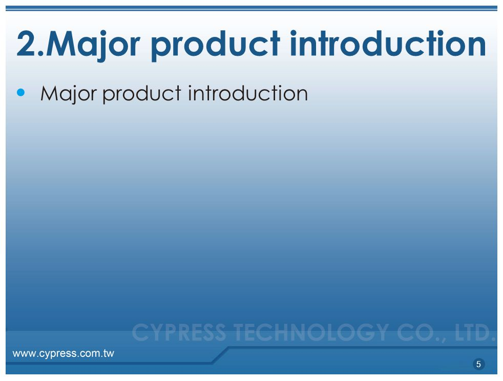 2.Major product introduction