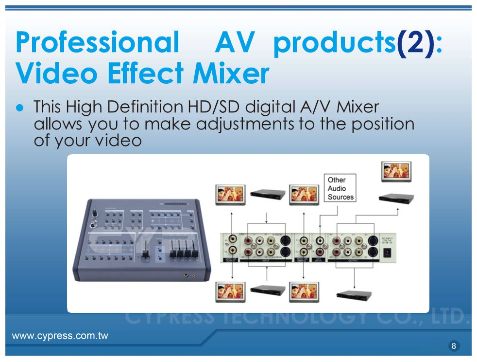 Professional AV products(2): Video Effect Mixer