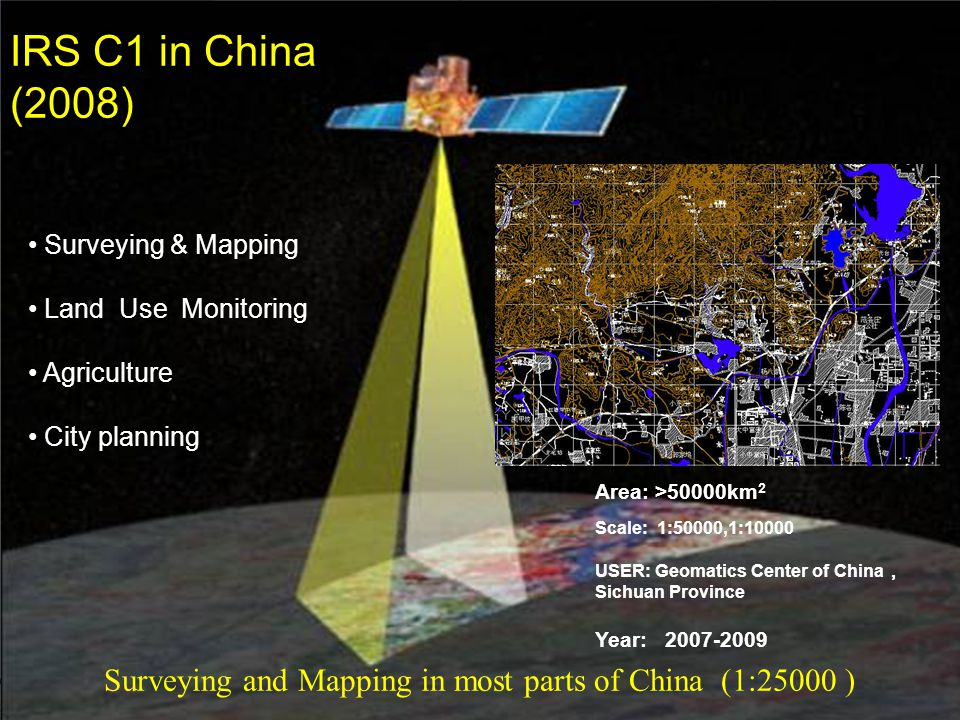 Surveying and Mapping in most parts of China (1:25000 )