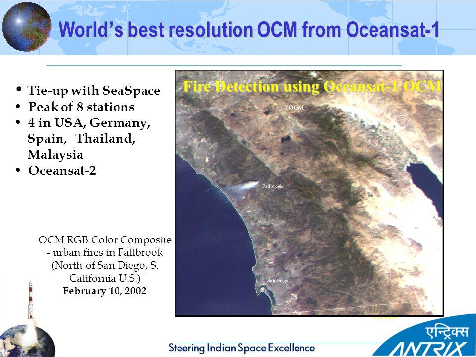World's best resolution OCM from Oceansat-1