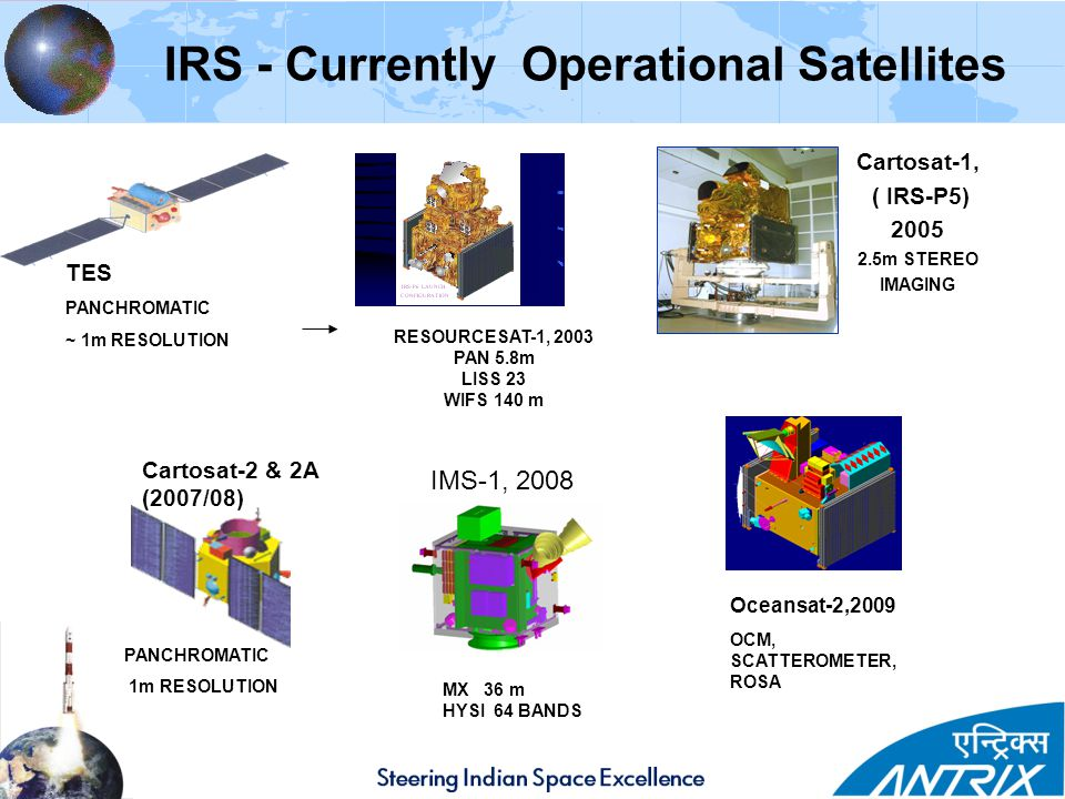 IRS - Currently Operational Satellites