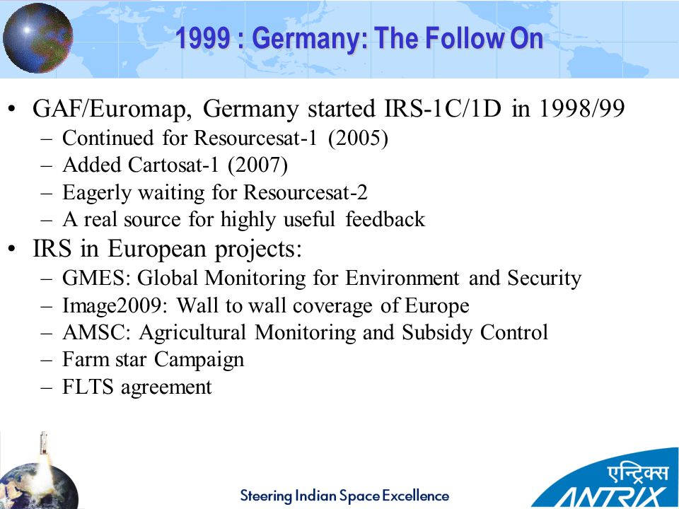 1999 : Germany: The Follow On
