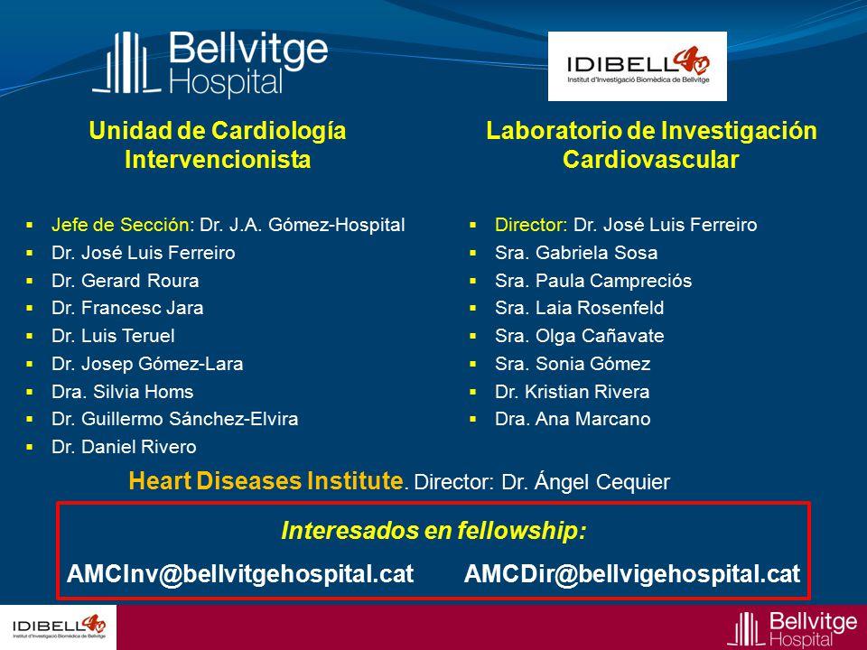 Unidad de Cardiología Intervencionista