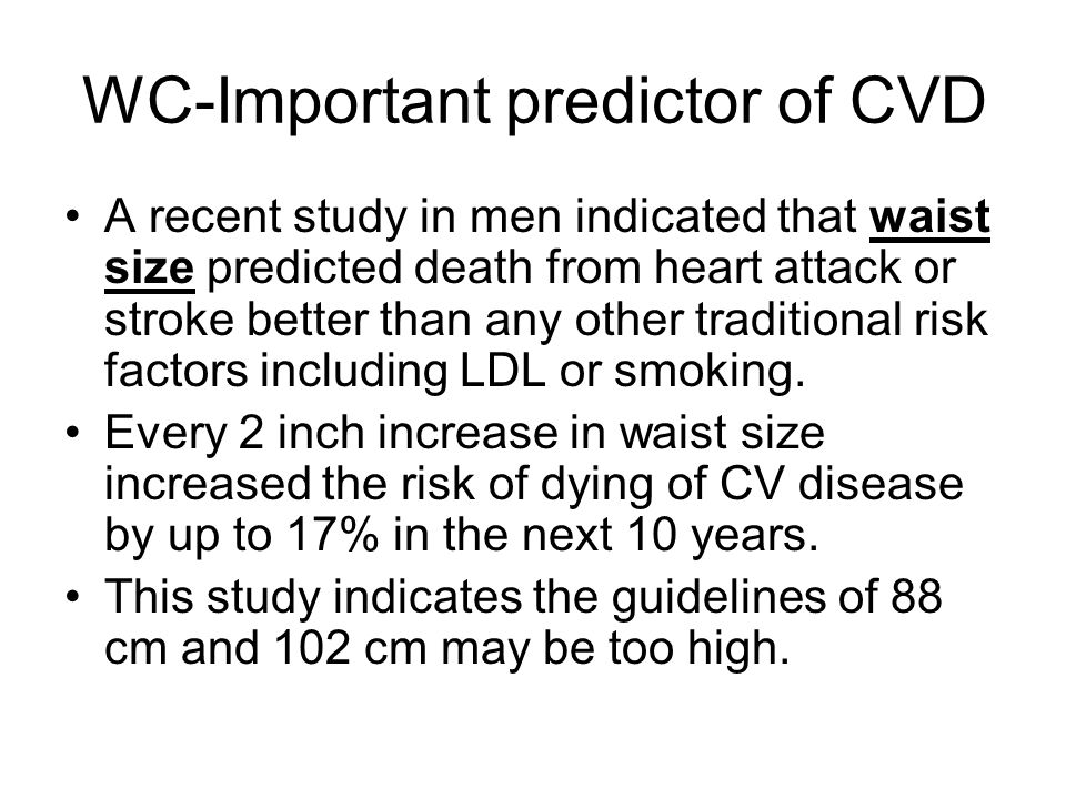 WC-Important predictor of CVD