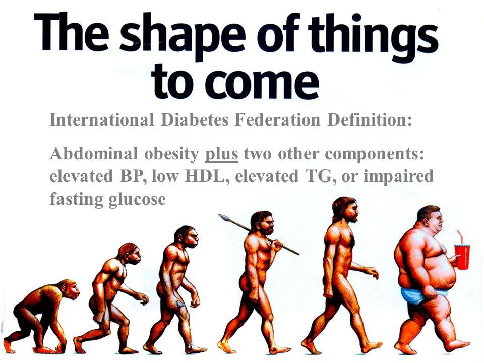 International Diabetes Federation Definition:
