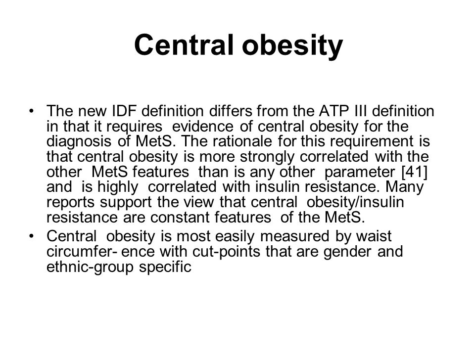 Central obesity