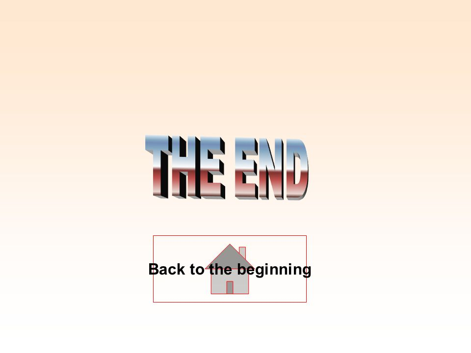 THE END Back to the beginning