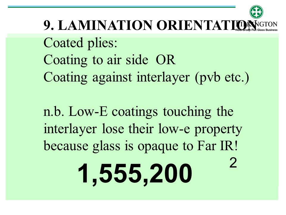 1,555,200 9. LAMINATION ORIENTATION Coated plies: