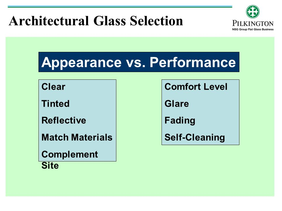 Architectural Glass Selection