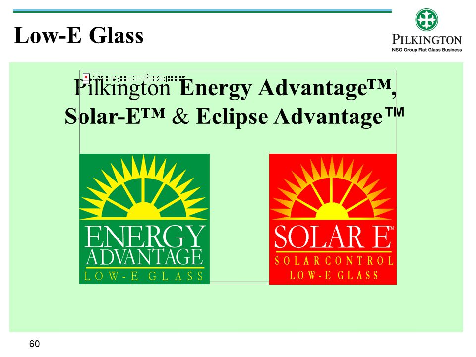 Pilkington Energy Advantage™, Solar-E™ & Eclipse Advantage™