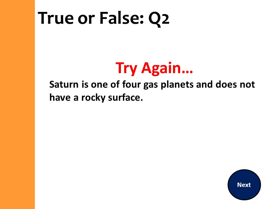 True or False: Q2 Try Again…