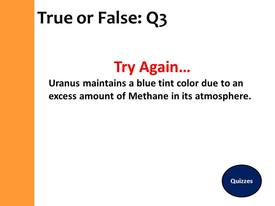 True or False: Q3 Try Again…