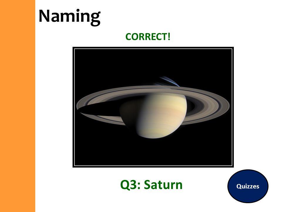 Naming CORRECT! Quizzes Q3: Saturn