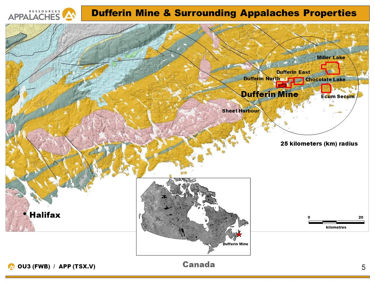 Dufferin Mine & Surrounding Appalaches Properties